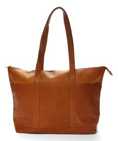 Le Donne Tan Leather Tote | zulily