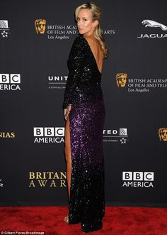 Lady Victoria Hervey injects a touch of sass to BAFTA Britannia bash in a VERY daring plunging gown with a racy thigh split http://goo.gl/xghzUI She may not have been up for award. But former It girl Lady Victoria Hervey was still able to grab people's attention at the BAFTA Los Angeles Britannia Awards on Thursday night.