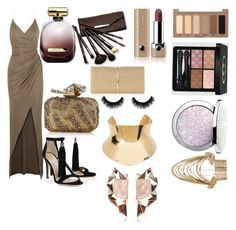 """Untitled #22"" by magdalenelib on Polyvore featuring Balmain, Jimmy Choo, Nina Ricci, Urban Decay, Marc Jacobs, Gucci, Borghese, Guerlain, Nak Armstrong and Rosantica"