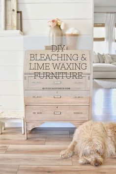 Bleaching And Lime Waxing Furniture Bleaching And Lime Waxing Furniture / *Just a note to alway use a mask , gloves,and goggles if needed) for your Diy Furniture Renovation, Diy Furniture Table, Pine Furniture, Farmhouse Furniture, Waxing Furniture, Furniture Makeover, Refurbished Furniture, Redoing Furniture, Painted Wood Furniture