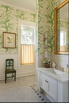 May Inspire You small-bathroom-wallpaper-for-bathrooms-ideas-new-house-with-bathroom-wallpaper-decorating-ideasPlastic wallpaper Best Living Room Wallpaper, Small Bathroom Wallpaper, Bad Inspiration, Bathroom Inspiration, Bathroom Ideas, 1920s Bathroom, Bathroom Green, Gold Bathroom, Master Bathroom