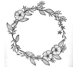 (notitle) Hand Drawn Floral Elements // Clip Art Set // by birDIYdesign - - Tinker Mother& Day Gift - 20 ideas . Embroidery Patterns, Hand Embroidery, Art Deco Borders, Wreath Drawing, Floral Drawing, Models Makeup, No Foundation Makeup, Diy Art, How To Draw Hands