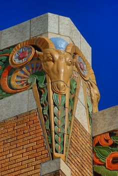 Ram's Head --- Art Deco at the Tulsa Fairgrounds -- Tulsa, Oklahoma