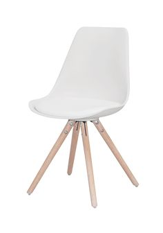 lot 2 chaises blanches design scandinave cross decostock