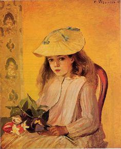 Camille Pissarro - Portrait de Jeanne (1872)