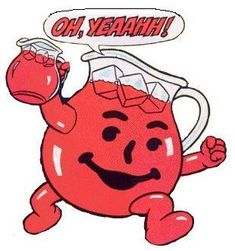 Oh, Yeaaahhh! Drank GALLONS of Kool-Aid during my childhood. my dad worked at general foods, we got lots of free kool-aid & country time lemonade! Smileys, Kool Aid Man, Arte Punk, Nostalgia, Famous Cartoons, 80s Kids, I Remember When, Oldies But Goodies, Ol Days