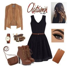 """""""Brown :))"""" by maida-962 ❤ liked on Polyvore featuring Yumi, Dorothy Perkins, JustFab, Newgate, TOKYObay and Aéropostale"""