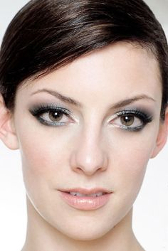 Dramatic eye and soft complexion and lips