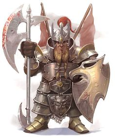 dwarf, fighter, guard, battleaxe