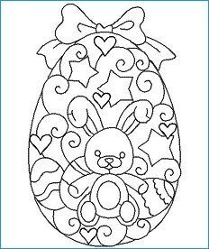 10 Redwork Designs 2 Sizes: and Hoop Fun for Easter! Easter Egg Coloring Pages, Cute Coloring Pages, Coloring Sheets, Coloring Books, Easter Templates, Easter Printables, Easter Art, Easter Crafts, Free Adult Coloring