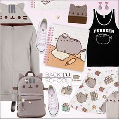 Back to School With Pusheen!!!! by alves-nogueira featuring a back to school outfit