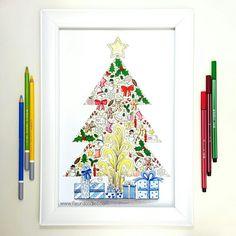 Colored Christmas Tree ❤