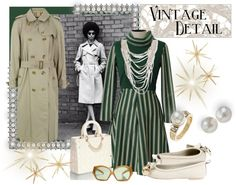 """Vintage Details"" by ellemanual ❤ liked on Polyvore"