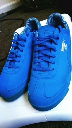 big sale ef75d 39867 Puma roma Blue Suede sneakers  fashion  clothing  shoes  accessories   unisexclothingshoesaccs