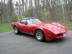 My first corvette...1980 Red Corvette with Oyster interior.