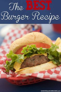 ver the Best Burger Recipe ever and become the hit of all your Summer BBQs! Simple and delicious, everyone loves these grilled burgers. Best Burger Recipe Ever, The Best Burger, Good Burger, Burger Dogs, Beef Patty, Fast Dinners, Hamburger Recipes, Juicy Hamburger Recipe, Camping Meals