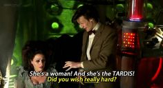 25 Funniest Lines In Doctor Who ~~ .gif set Doctor Who Funny, Doctor Who Quotes, She's A Woman, Doctor Who Companions, Disney Movies To Watch, Don't Blink, Eleventh Doctor, Dalek, Time Lords