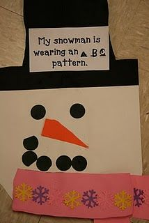 snowman scarf patterns