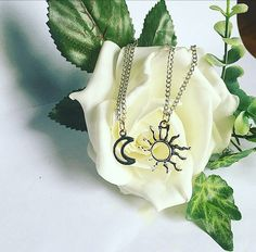 A personal favourite from my Etsy shop https://www.etsy.com/uk/listing/508280144/sun-and-moon-necklace-set-sun-necklace