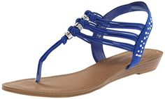 Madden Girl Women's Thrilll Dress Sandal, Blue Fabric, 7.5 M US >>> You can find more details by visiting the image link.