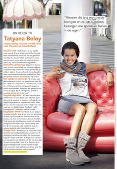 Flair (Belgian magazine) features Tatyana Beloy on a sofa by Blofield Air Design.