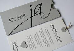 Hochzeitseinladung / wedding invitation  / Hochzeitskarte http://aylando.de/html/hochzeitskarten.html#JA