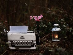 writing letters by lamplight