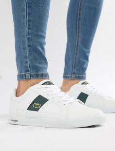 Lacoste Europa Sneakers In White – Christy Ann Ramos – Welt der Deutschen Lacoste Trainers, Lacoste Sneakers, White Sneakers, Women's Sneakers, Lacoste Shoes Mens, Baskets, Casual Shoes, Shoes Style, Women's Shoes