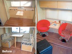 Removed motorhome dining booth, added custom pull out table and extra storage Camper Storage, Diy Camper, Camper Ideas, Camper Life, Rv Life, Camper Hacks, Trailer Storage, Rv Hacks, Camper Van