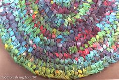 love the idea of tie-dyed fabric for the rag rugs!
