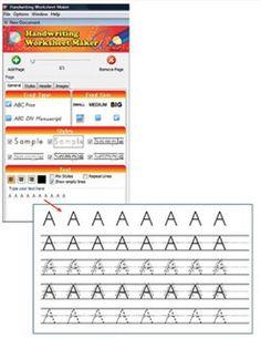 math worksheet : 1000 images about handwriting worksheet maker on pinterest  : Kindergarten Worksheet Maker