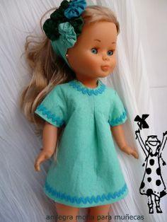 Anilegra moda para muñecas: VESTIDO NANCY ,PATRONES Y TUTORIAL para principiantes
