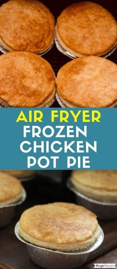 How to cook your favourite frozen pot pies in the air fryer. Whether this is frozen chicken pot pies frozen meat pot pies frozen veggie pies we will show you how to cook them from frozen in your air fryer. Air Fryer Oven Recipes, Air Frier Recipes, Air Fryer Dinner Recipes, Pie Recipes, Baby Food Recipes, Ninja Recipes, Chicken Recipes, Waffle Recipes, Veggie Recipes