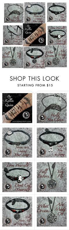 """Never take it off! Kellin quinn bracelets! Merch with meaning!"" by swsptvfob ❤ liked on Polyvore"