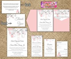 35 Best Blush Pink Gray Wedding Invite Images On Pinterest Grey