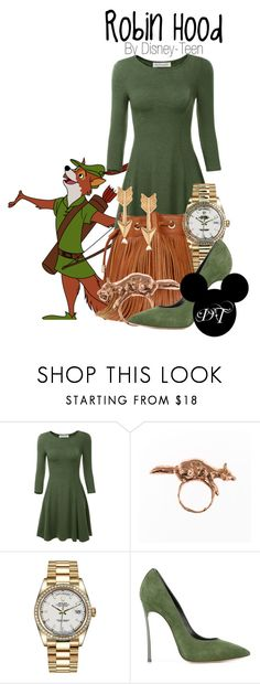 """""""Robin Hood"""" by disney-teen ❤ liked on Polyvore featuring By Emily, Rolex, Casadei, Journee Collection, Fall and robinhood"""