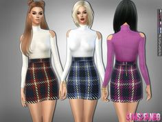 231 - Open sleeve sweater with skirt | The Sims 4 Catalog