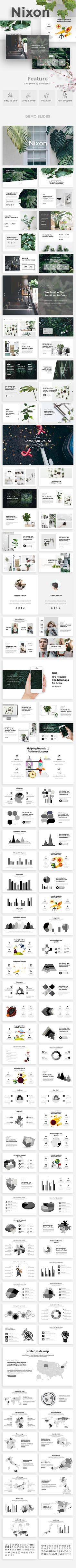 Buy Nixon Creative Powerpoint Template by bluestack on GraphicRiver. Features: Aspect Ratio no more broken images! Easy and fully editable in PowerPoint (shape color, size, position. Powerpoint Tips, Creative Powerpoint Templates, Presentation Layout, Presentation Templates, Slide Template, Creative Visualization, Book Layout, Web Design Inspiration, Keynote Template