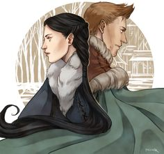"""""""I may not be with you, but we're always together. """" cousland and alistair"""