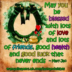 For more GOOD LUCK & WISHES  CLICK HERE ➡  http://www.tranquilwaters.uk.com/luckandwishes