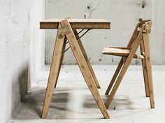 Escrivaninha em bambu FIELD DESK by We Do Wood design Sebastian Jørgensen