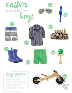EASTER/SPRING STYLE GUIDE: An easter basket styled for your little man! www.momsbestnetwork.com