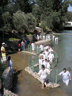Being Baptized In The Jordan River, ISRAEL