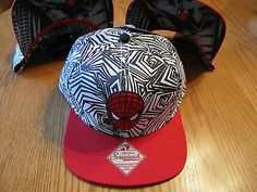 The Amazing Spider-Man Spiderman Snapback Hat Marvel Comics NWT - RED FACE