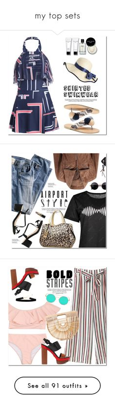 """my top sets"" by oshint ❤ liked on Polyvore featuring Bobbi Brown Cosmetics, awesome, amazing, swimwear, fabulous, gamiss, Guide London, Michael Kors, Cult Gaia and zaful"