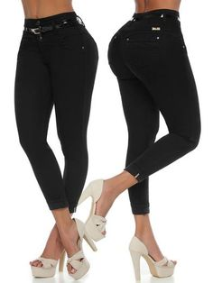 'Admire Me' Butt Lift Levanta Cola Jeans 12600 – Colombiana Boutique Dark Blue Skinny Jeans, Skinny Ankle Jeans, Skinny Fit, Faux Leather Belts, Black Faux Leather, Black Skinnies, Black Jeans, Brazilian Pants, Best Jeans