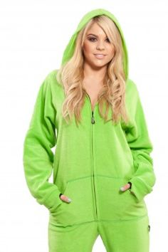 Lime Green Hooded Footed Pajama from Jumpin Jammerz    I would get you in XS and put orange dinosaur spikes down your back! And a tail!
