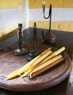 beeswax candles~ we will be making these once again !