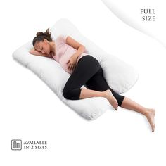 10 Foot U Shaped Pillow Case Only Comfort Full Body Maternity Pregnancy Support