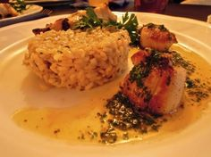 """At the Navy Inn, Penzance"" Penzance, England photo of ""Monkfish with scallops and risotto"" by IgoUgo travel photographer, frangliz ."